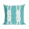 """Liora Manne Visions Ii Double Knot Indoor/Outdoor Pillow Aqua 20"""" Square"""