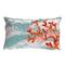"Liora Manne Visions Iii Coral Wave Indoor/Outdoor Pillow Aqua 12""X20"""