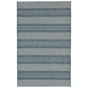 Liora Manne Belmont Horizontal Stripe Indoor/Outdoor Rug Grey