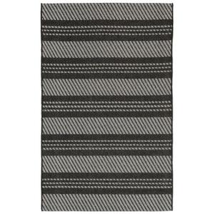 Liora Manne Belmont Horizontal Stripe Indoor/Outdoor Rug Grey