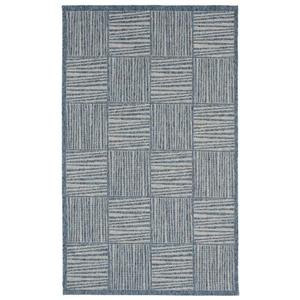 Liora Manne Belmont Border Indoor/Outdoor Rug Blue