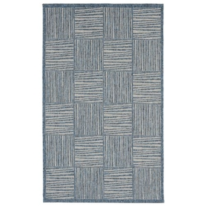 Liora Manne Capri Coral Border Indoor/Outdoor Rug Blue