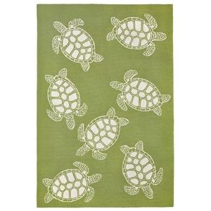 Turtle Greenery Indoor/Outdoor Rug