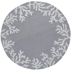 Liora Manne Frontporch Shell Toss Indoor/Outdoor Rug Blue