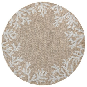 Liora Manne Frontporch Shell Toss Indoor/Outdoor Rug Orange