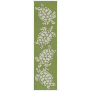 Turtle Greenery Indoor/Outdoor Rug