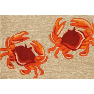 Crabs Natural Indoor/Outdoor Rug