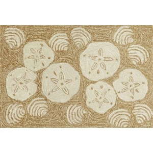Shell Toss Indoor/Outdoor Rug  Natural