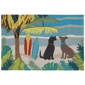 Liora Manne Frontporch Three Dogs Indoor/Outdoor Rug Multi