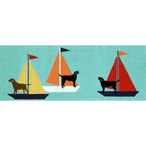 Sailing Dogs Indoor/Outdoor Rug