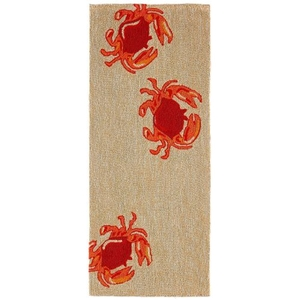 "Crabs Natural Indoor/Outdoor Rug 23"" x 60"""