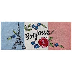 """Liora Manne Frontporch Bonjour Indoor/Outdoor Rug Multi 24""""X60"""""""