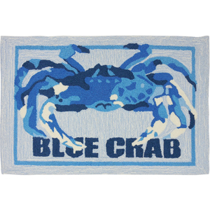 Blue Crab Shack Accent Rug