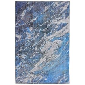 Liora Manne Portsmouth Nautical Strp Indoor/Outdoor Rug Blue