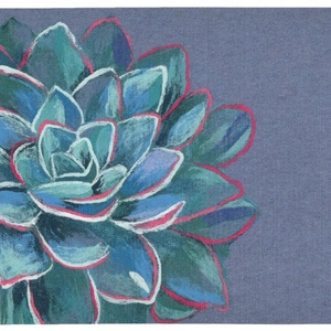 Succulent Indoor/Outdoor Rug Blue