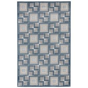 Liora Manne Tulum Border Indoor/Outdoor Rug Grey