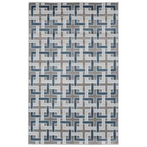 Liora Manne Tulum Geo Indoor/Outdoor Rug Blue