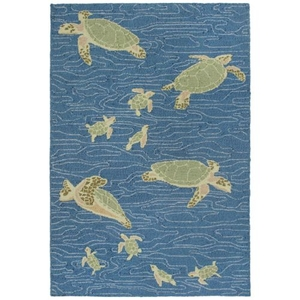 Liora Manne Lhasa Shadows Indoor Rug Blue