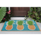 "Liora Manne Natura Pineapples Outdoor Mat Aqua 18""X30"""