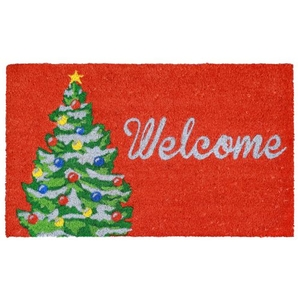 Welcome Christmas Tree Out Door Mat