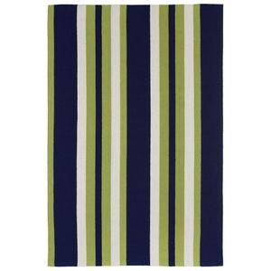 Nautical Stripe Green Indoor/Outdoor Rug
