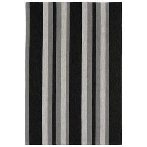 """Nautical Stripe Grey Indoor/ Outdoor Rug  42""""X66"""""""