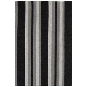 "Nautical Stripe Grey Indoor/ Outdoor Rug 7'6""X9'6"""