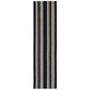"""Nautical Stripe Grey Indoor/Outdoor Rug 24""""X8'"""