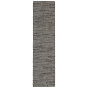 "Liora Manne Sahara Plains Indoor/Outdoor Rug Silver 24""X8'"