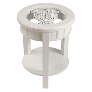Sealife Round Accent Table with Shelf