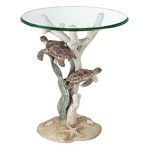 Sealife Sea Turtle Accent Table