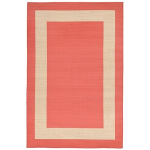 Border Coral Indoor/Outdoor Rug