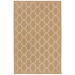 "Geo Almond Indoor/Outdoor Rug 7'10""X9'10"""