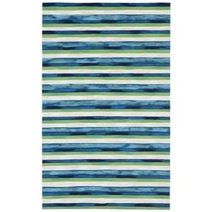 Liora Manne Visions I Sand Dollar Indoor/Outdoor Pillow Navy