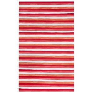 Liora Manne Visions II Painted Stripes Indoor/Outdoor Rug Warm 8'x10'