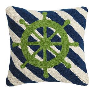 Captain's Wheel Stripes Hook Pillow