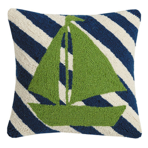 Sailboat Stripes Hook Pillow