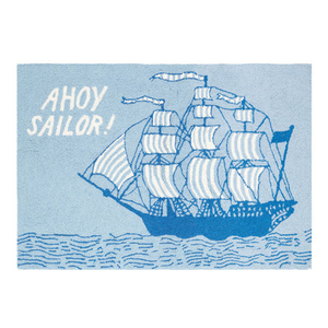 Ahoy Sailor Hook Rug  2X3 FT
