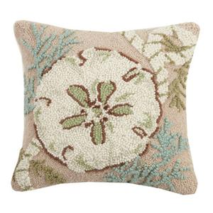 """Sand Dollar Hook Pillow 16x16"""""""