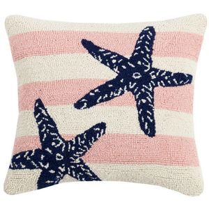Pink Stripe Starfish Hook Pillow