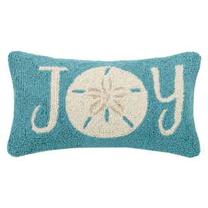 Sand Dollar Joy Hook Pillow  9X16""