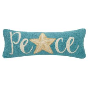 "Starfish Peace Hook Pillow  8X20"""