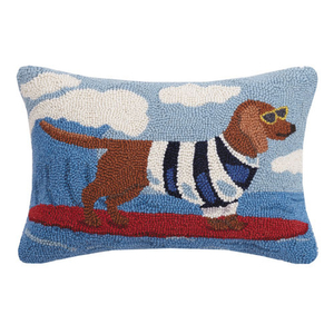 Surf Dog Hook Pillow