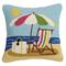 Beach Scene Sunshing Hook Pillow