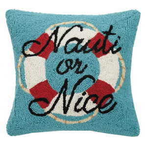Nauti or Nice Hook Pillow