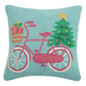 Bike Tree Present Hook Pillow