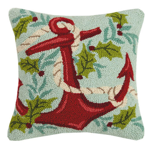 Holiday Anchor Hook Pillow