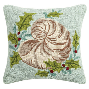 Holiday Nautilus Hook Pillow