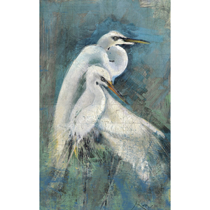 Egret Pair Heron Wall Art