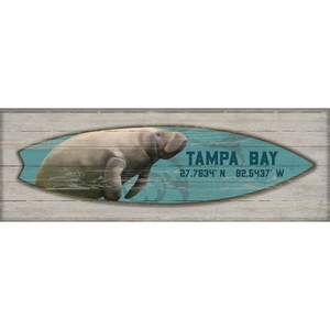 Manatee Surfboard Wall Art